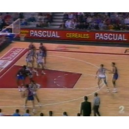 Liga ACB 91/92 fase regular Barcelona-86 R.Madrid-88